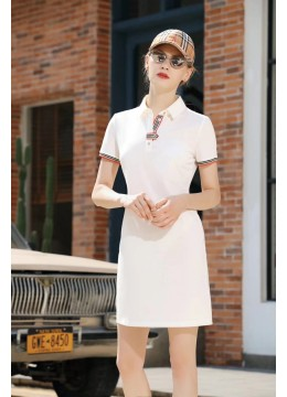 Solid Colour Tee Dress /White