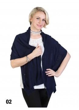 Multi-Use Scarf/Cape W/Buttons /Navy