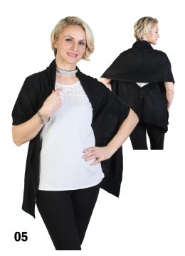 Multi-Use Scarf/Cape W/Buttons /Black