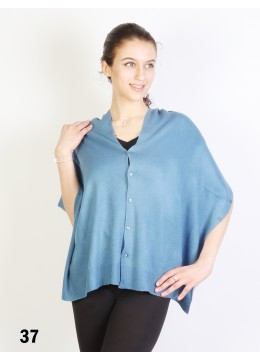 Multi-Use Scarf/Cape W/Buttons /Blue