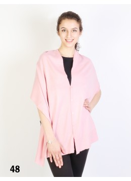 Multi-Use Scarf/Cape W/Buttons /Dark Pink