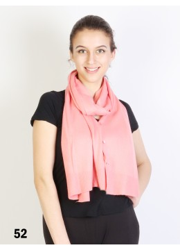 Multi-Use Scarf/Cape W/Buttons /Coral