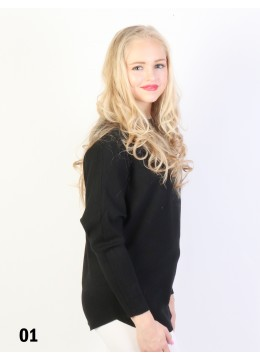 Batwing Pullover Loose Top /Black