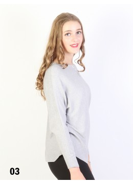 Batwing Pullover Loose Top /Grey