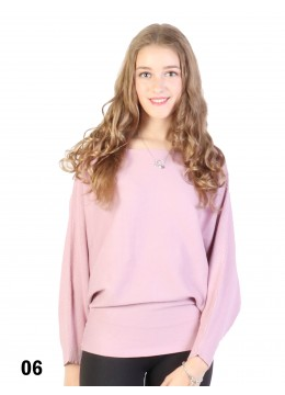 Batwing Pullover Loose Top /Pink
