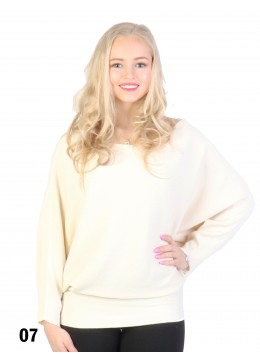 Batwing Pullover Loose Top /Cream