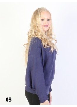 Batwing Pullover Loose Top /Navy