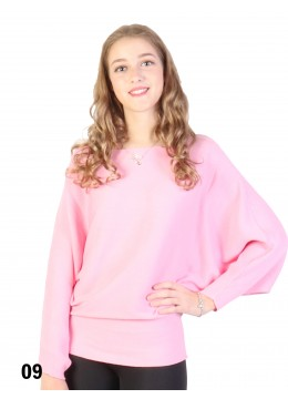 Batwing Pullover Loose Top /Light Pink