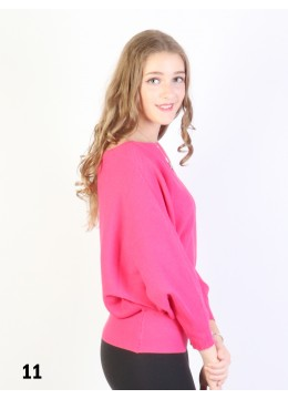 Batwing Pullover Loose Top /Fuchsia