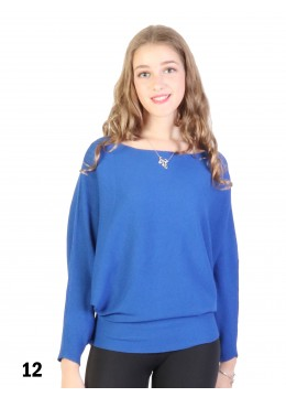 Batwing Pullover Loose Top /Royal Blue