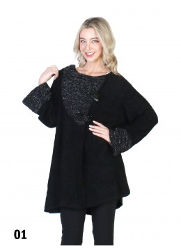 Fashion Winter Sweater W/Artificial Horn Button