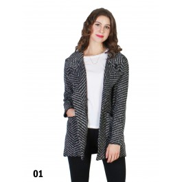 Ladies Tweed Casual Loose Blazer Suit