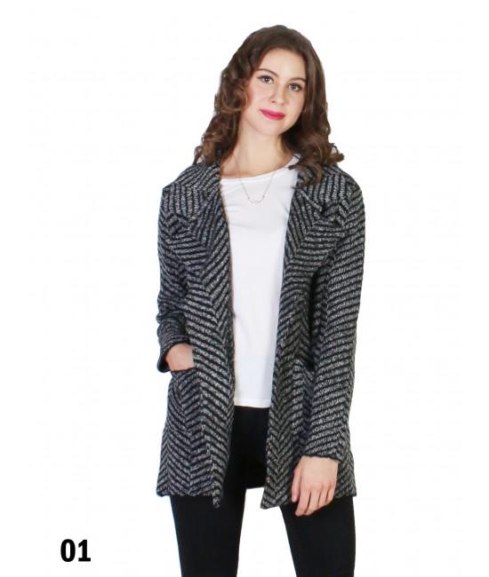Ladies Tweed Casual Loose Blazer Suit