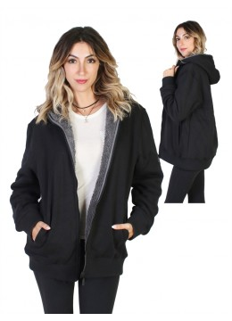 REVERSIBLE JACKET WITH DETACHED HOOD