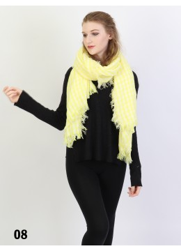 Houndstooth Blanket Scarf /Yellow