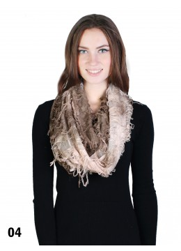 Ombre & Shaggy Butterfly Loop Scarf